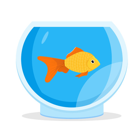 Aquarium Goldfish icon. Flat style vector illustration