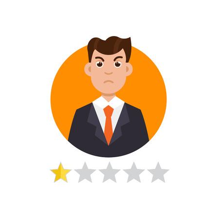 Feedback User. Customer reviews concept. Vector illustration Illustration