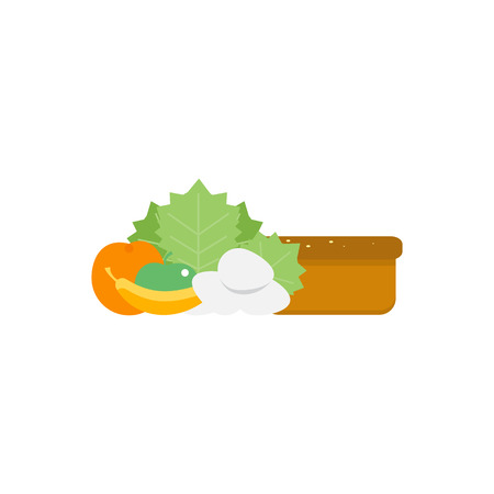 Health food icons. Vector illustration Food intolerance.