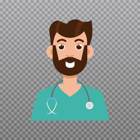 male symbol: Doctor avatar, Medical staff icon. Vector illustration Illustration