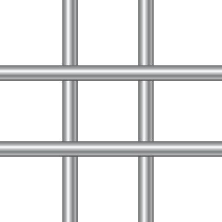prison facility: 3d realistic steel prison bars. Vector illustration. Illustration