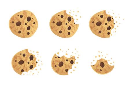 かまれたチップ クッキー ベクトル イラスト セット 写真素材 - 87536123