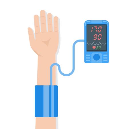 High blood pressure concept. vector illustration