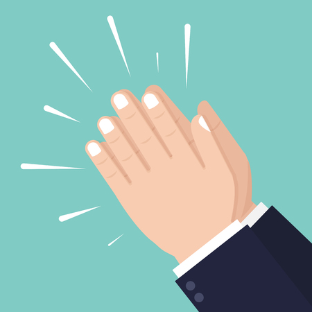 Hands clapping. Applause, ovation, cheering. Vector illustration