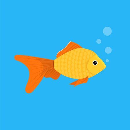 Aquarium Goldfish icon. Flat style vector illustration