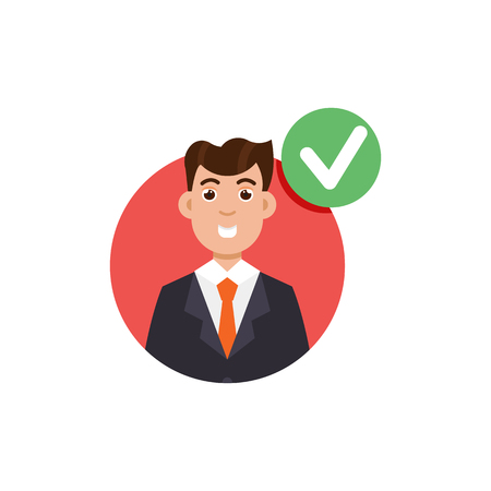 Customer review. Positive and negative feedback concept. Vector illustration Illustration