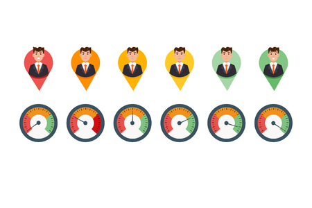 Scale of emotions. Vector illustration in flat style 版權商用圖片 - 87536299