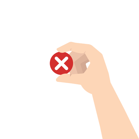 Customer review. Negative feedback concept. Vector illustration Illustration
