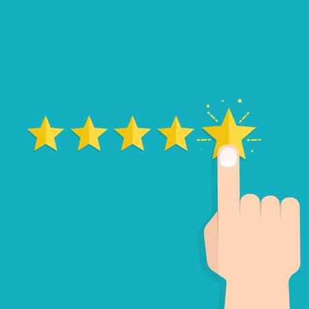 Customer review concept. Usability Evaluation. Vector illustratie Stock Illustratie