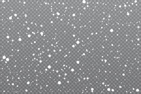 Realistic falling snow Vector illustration. Stock Illustratie
