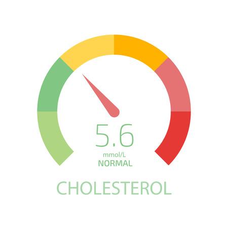 Cholesterol Meter app user interface. Vector illustration.