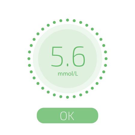 Cholesterol Meter app for smartphone or tablet. Vector illustration.  イラスト・ベクター素材