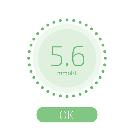 Cholesterol Meter app for smartphone or tablet. Vector illustration. Çizim