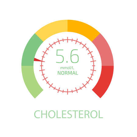 Cholesterol Meter app user interface. Vector illustration.
