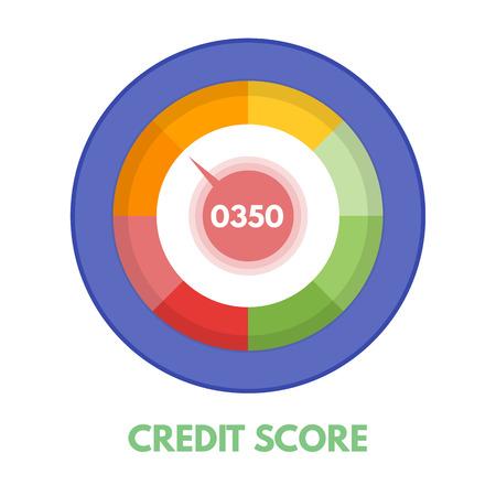Credit score gauges. Minimum and maximum concept. Vector illustration. Иллюстрация