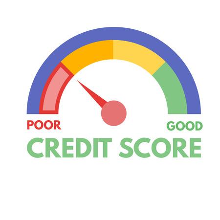 Credit score gauges. Minimum and maximum concept. Vector illustration. Vektorové ilustrace