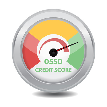 Credit score gauges. Minimum and maximum concept. Vector illustration. Vectores