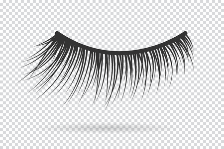 Feminine lashes vector. False eyelashes hand drawn. Illusztráció