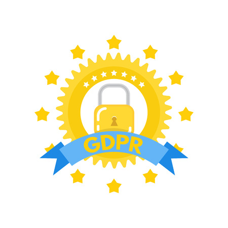 General Data Protection Regulation - GDPR logo. Vector illustration.