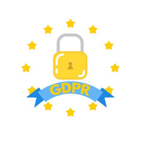 General Data Protection Regulation - GDPR logo. Vector illustration.