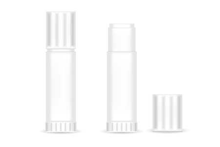 Realistic Paper glue stick isolated. Vector illustration.