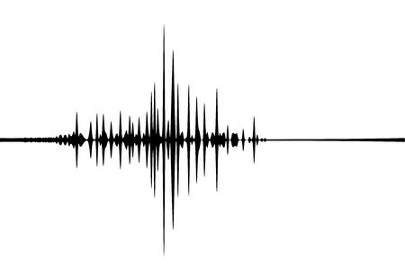 Sismogramma, registrazione dell'attività sismica. Illustrazione vettoriale. Vettoriali