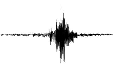 Sismogramma, registrazione dell'attività sismica. Illustrazione vettoriale.