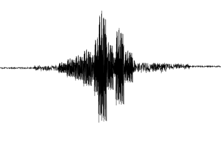 Seismogram.Seismic, earthquake activity record. Vector illustration. Ilustração