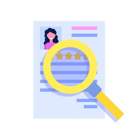Search Job or human resource icon in flat style Icon. Vector illustration Stok Fotoğraf - 129248990