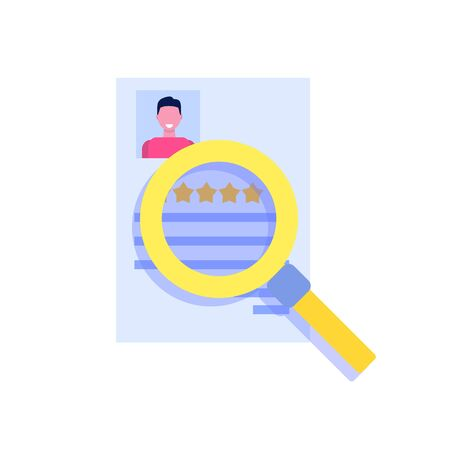 Search Job or human resource icon in flat style Icon. Vector illustration Stok Fotoğraf - 129249846