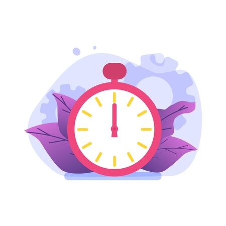 Time management concept,  Business scheduling app. Flat vector illustration. Illustration
