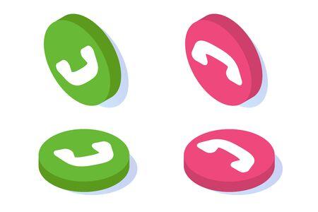 Voix sur IP, ensemble d'icônes isométriques de la technologie VoIP de téléphonie IP. Illustration vectorielle.