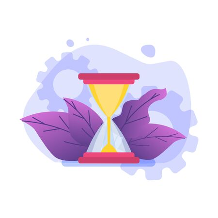 Time management concept,  Business scheduling app. Flat vector illustration. Ilustração