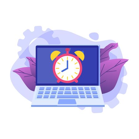 Time management concept,  Business scheduling app. Flat vector illustration. 일러스트