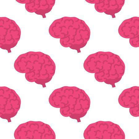 Human brain seamless pattern.Vector illustration Vectores