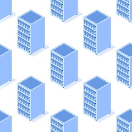 Server seamless pattern. Vector illustration Vectores