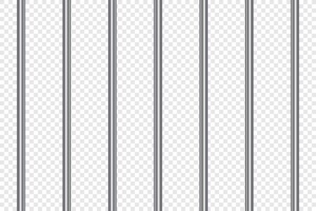 Jail lattice or bars in 3d style on isolated background. Prison transparent. Vector illustration.