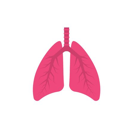 Human lungs icon. Vector illustration Vectores