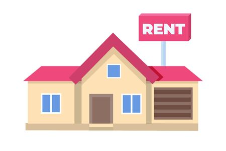 Estate agency concept. Rent cottage icon. Vector illustration.
