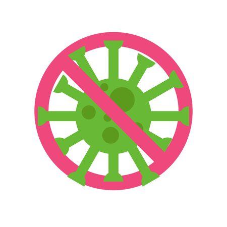 COVID-19 corona virus, virus wuhan from china icon. Vector illustration. Vectores