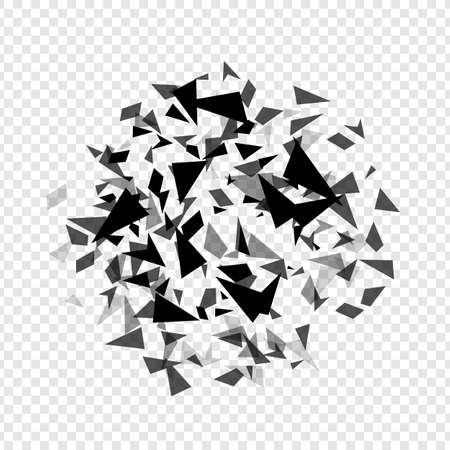 Abstract hexagons hatter burst . Geometric texture background template isolated. Vector illustration.