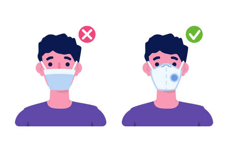 Different Types Protection Masks. Vector illustration