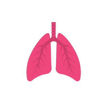 Human lungs icon. Vector illustration Illustration