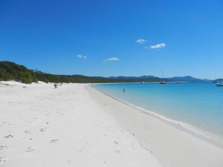 whitehaven beach: Whitehaven Beach, Whitsunday Island, Queensland, Australia Stock Photo