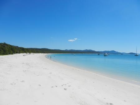 whitsundays: Whitehaven Beach, Whitsunday Island, Queensland, Australia Stock Photo