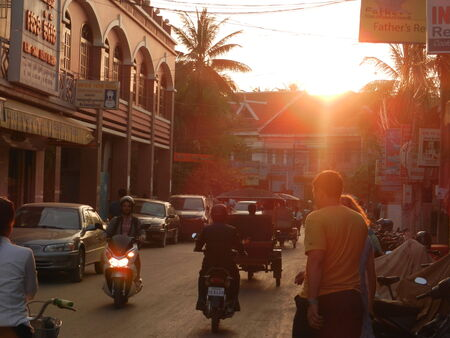 to reap: Siem Reap, Cambodia Editorial