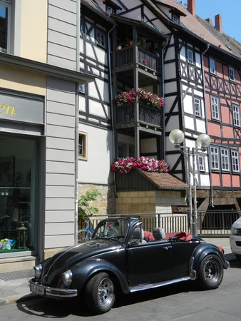 vw: VW Beetle cabrio, Erfurt, Thuringia, Germany