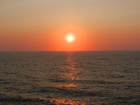 nas: Sunset in Nas, Ikaria, Greece Stock Photo