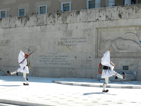 syntagma: Evzones at Syntagma Square, Athens, Greece