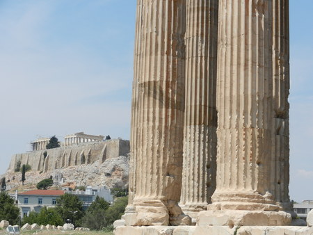 olympian: Temple of Olympian Zeus and Acropolis, Athens, Greece